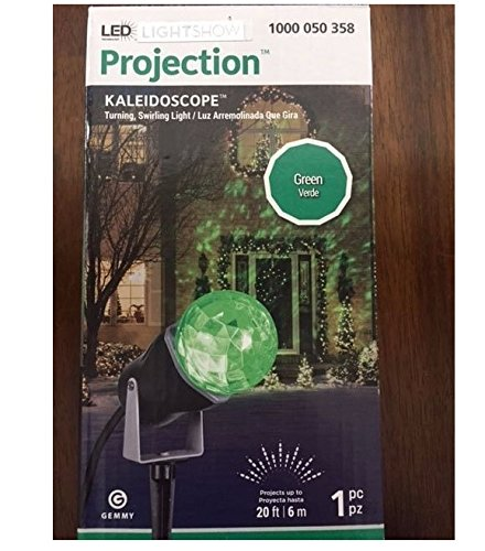 Gemmy LED Lightshow Projection Kaleidoscope Green Swirling Light