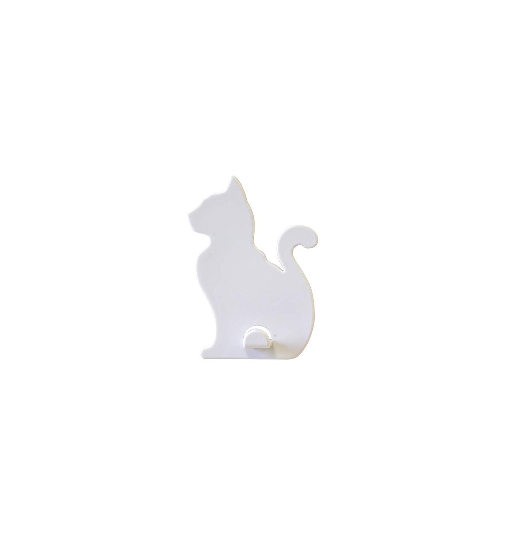KalaMitica Katze-Design Magnetische Aufhä nger, ABS-Harz, Weiß , 7x5,1 cm Sgaravatti Trend 21005-900-103