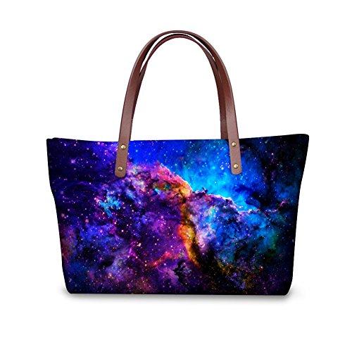 FOR U DESIGNS Fashion Galaxy Print Handbags for Women Shoulder Bags for Girls