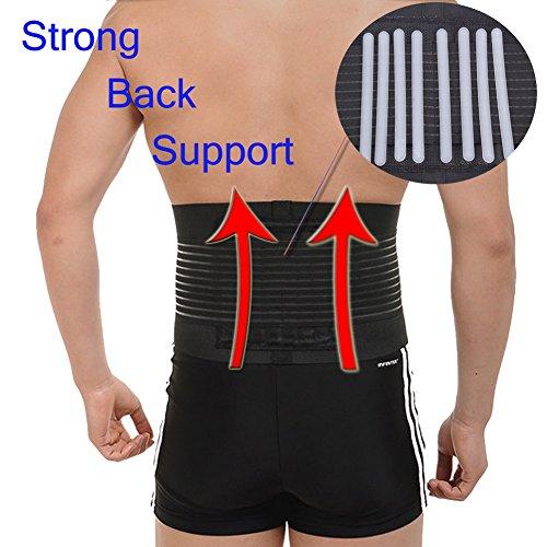 Lower Back Brace Lumbar Support Belt Waist Trimmer Belly Shaper for Women and Men Black M