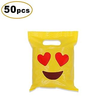 Cevinee - Bolsas de la compra (50 unidades, brillantes, bolsas de la compra, bonitas bolsas para regalos ...