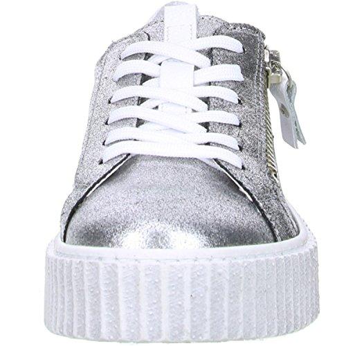 ONLINE SHOES Damen Sneaker Plateau Silber Silber