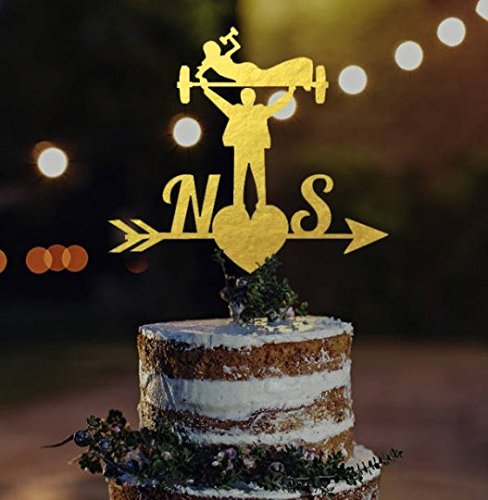 Amazon fitness wedding cake topper fitness couple topper fitness wedding cake topper fitness couple topper crossfit couple topper bodybuilder cake topper junglespirit Image collections
