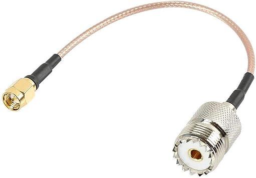 RF RG316 Pigtail Baja Pérdida de Cable, Tengko SMA Macho a UHF SO-239 Hembra Conector de Antena Coaxial