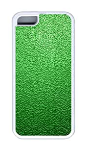 Customized Case Green traces TPU White for Apple iPhone 5C