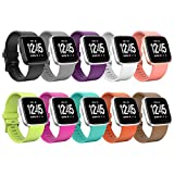 Sunnywoo for Fitbit Versa Bands, Sunnywoo Replacement Fitbit Versa Bands Silicone Dust Resistant Fitbit Versa Accessories Quick Release Pin Sport Band Fitbit Versa Smartwatch