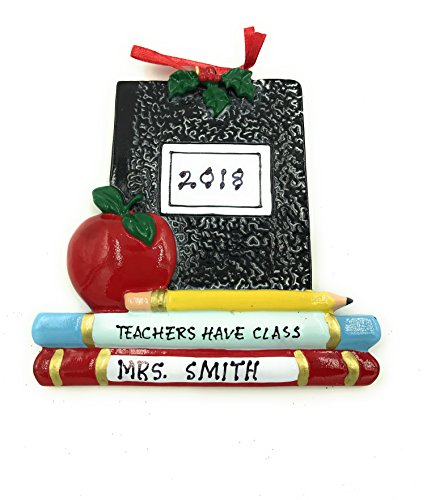 Personalized Teacher Have Class Christmas Ornament 2018 Free Personalization