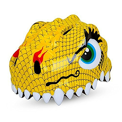 Dinosaur Yellow Design Bicycle Cycle Cycling Bike Helmets Protective Gear for Toddler Child Children Kids Safety Protection,Ultralight Breathable Sport Bike Helmet for Youth Boy Girl Student Pupil For Sale