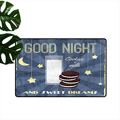 Fashion Door mat Sweet Dreams Biscuits and Milk Durable W35 xL59