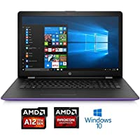 2018 Newest Premium HP 15.6 Business Laptop HD SVA BrightView Laptop, AMD Quad-Core A12-9720P Up to 3.6GHz 8GB DDR4 256GB SSD AMD Radeon R7 Graphics DVD-RW 802.11ac Webcam HDMI USB 3.1 Win 10-Purple