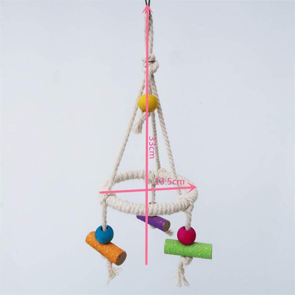 CAVIVI Percha de pie para Loro con Cuerda de algod/ón para periquitos peque/ños y medianos