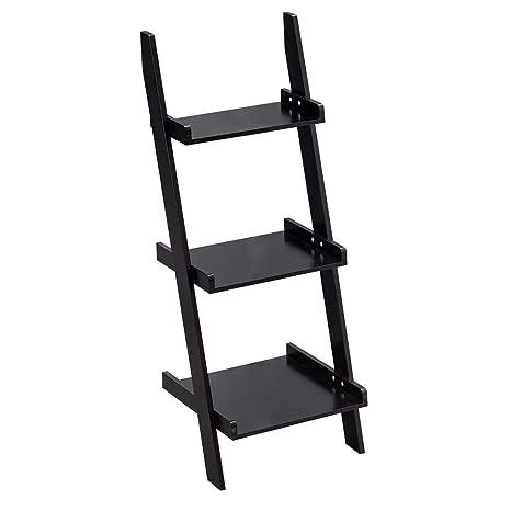 Giantex Ladder Shelf 3 Tier Wall Leaning Bookshelf Ladder Bookcase Storage Display Shelf For Home And Office Multipurpose Plant Flower Stand Shelf