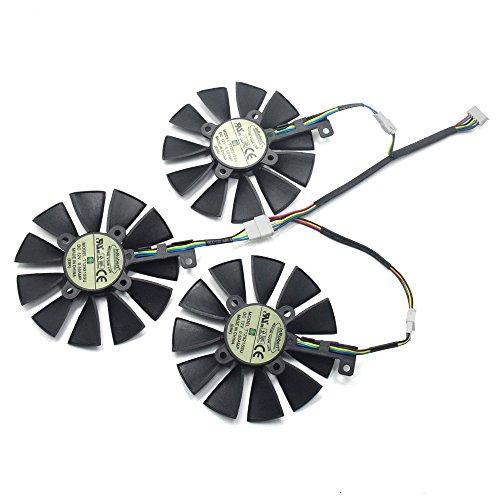 inRobert Video Card Cooling Fan for ASUS GTX 1060/1070/180 Strix GTX980Ti/R9 390X/R9 390 Graphic Card by inRobert