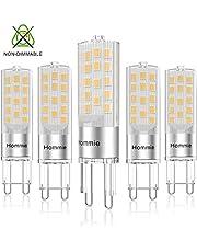 Lampadine G9 Led Luce Calda da 3.8W equivalente di lampadine alogene da 40W, 3000K, 360ML, 360° Angolo a fascio, AC 220-240V, 5-Pack(Hommie)