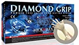 Microflex MF-300-L Diamond Grip Exam Gloves, PF Latex, Textured Fingers, Large, 100 per Box, 10 Box per Case (Pack of 1000)