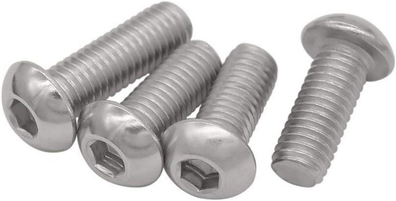 Jerilla M10x100mm Machine Screws Bolt Hexagonal Socket Head Cap Screw Stainless Steel Fasteners Bolts 15PCS