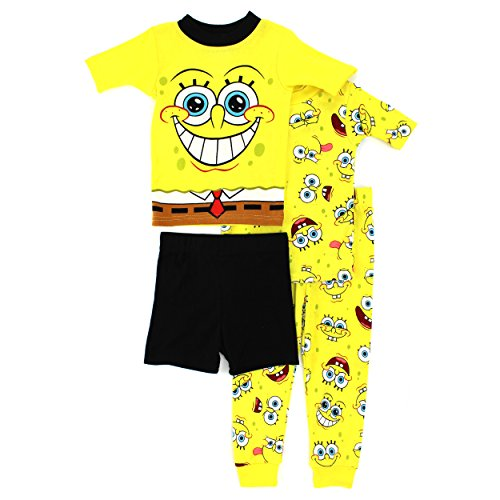 Spongebob Squarepants Boys 4 pc Cotton Pajamas
