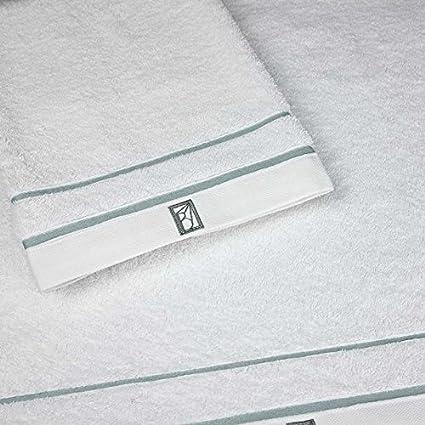 Ballet BC01RVE02 b002dd - Leman algodón peinado toalla de baño 70 x 140 cm blanco