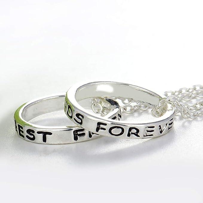 266876582f09 EQLEF alean el Anillo Simple de la Plata Mejores Amigos Forever el Collar  de la Amistad - el Collar del Regalo de la Amistad   2 PCS  Amazon.es   Juguetes y ...