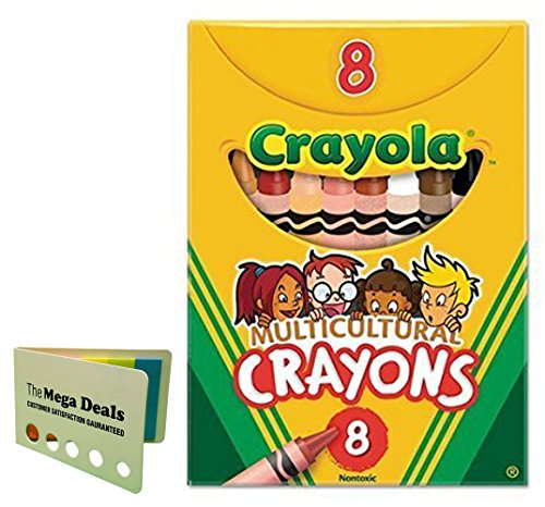 Crayola Multicultural Crayons -24 count (Set of 3-8 Packs) Includes 5 Color Flag Set