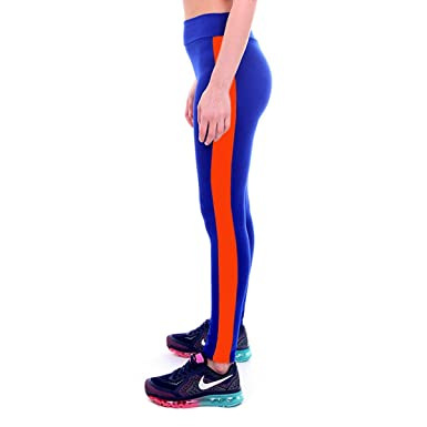 ad054f67c8562 PXUDB Sport Leggings For Women Gym Running Tights Side Stripe  Leggings