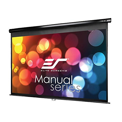 (Elite Screens Manual Series, 106-INCH 16:9, Pull Down Manual Projector Screen with AUTO LOCK, Movie Home Theater 8K / 4K Ultra HD 3D Ready, 2-YEAR WARRANTY, M106UWH)