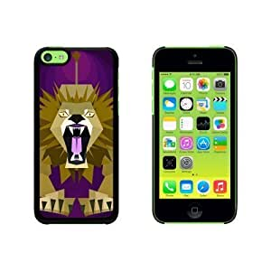 Geometric Lion Magenta Snap On Hard Protective For Iphone 6 Phone Case Cover - Black