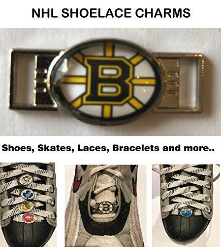 Boston Bruins NHL Shoelace Charms for Skates, Shoes, Bracelets etc. (Card Nhl Bruins Boston)