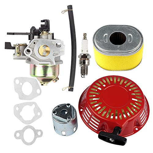 Hilom Carburetor Carb with Recoil Starter Cup Air Filter for Honda GX240 8.0HP GX270 9HP Engine Replaces #16100-ZE2-W71 16100-ZH9-W21 (Recoil Cup)