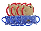 Dean & Tyler Bundle of 8 Bite Pillows for Pets, 4-Jute and 4-French Linen, 13-Inch by 8.5-Inch