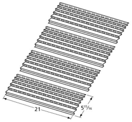 enjoylife Gas Grill Steel Heat Plate 94091 for Select Viking Grills - 4 Pack
