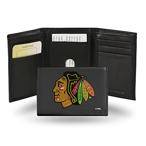 - NHL Chicago Blackhawks Embroidered Leather Trifold Wallet
