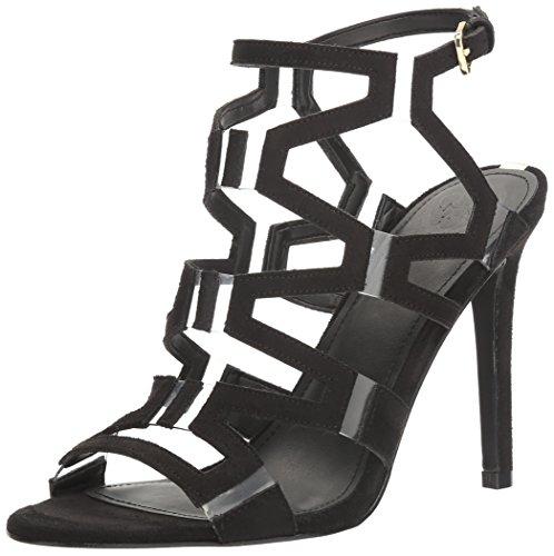 Guess Women's Padton4 Heeled Sandal, Black, 6 Medium US