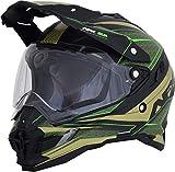 AFX FX-41DS Dual Sport Eiger Full Face Helmet Khaki/Green LG