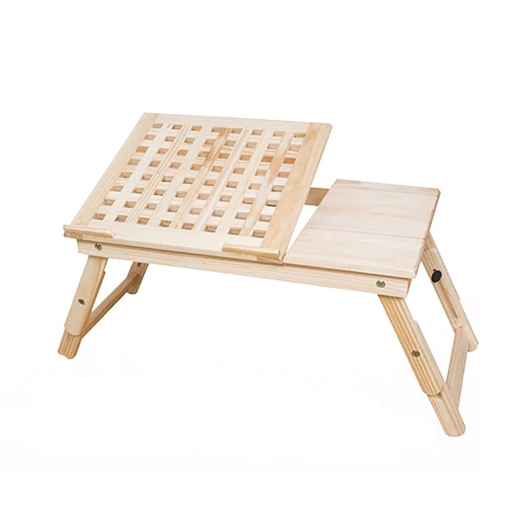 折り畳みテーブル& ラップトップテーブルベッドを使用折りたたみ可能なオフィスデスク持ち運びに便利な、多目的でツールレスな組立 B07F1V1LST