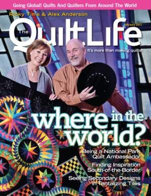 Anderson Quilt - Ricky Tims & Alex Anderson THE QUILT LIFE MAGAZINE - FEB 2012 Issue - TQL-12