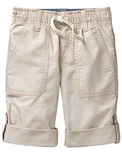 Pants Gymboree - Gymboree Boys' Toddler Roll Up Woven Pants, Khaki, 4T