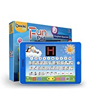"""Spanish-English Tablet Bilingual Educational Toy with LCD Screen Display by Boxiki Kids. Touch-and-Teach Pad for Kids Learning Spanish and English. ABC Games, Spelling, """"Where Is?"""" Games, Fun Melodies"""