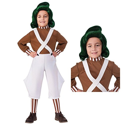 Willy Wonka Oompa Loompa Costume Bundle Set Child L