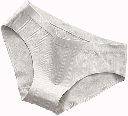 TUTOU Ropa Interior De Mujer Ropa Interior De Algodón Sin Costuras Bikini Elástico Calzoncillos Ropa Interior Transpirable Sin Costuras Cómoda,Gray,M: Amazon.es: Deportes y aire libre