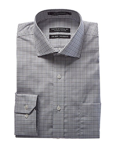 Forsyth of Canada Mens Kensington Tailored Fit Dress Shirt, 17.5 34/35, - Canada Kensington