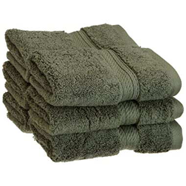 Superior 900 Gram Egyptian Cotton 6-Piece Face Towel Set, Forest Green