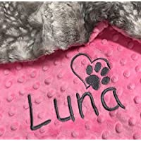 Puppy Blanket, Personalized Dog Blanket, Gray Paw Print Blanket, Puppy Gift, Dog Christmas Gift, personalized dog blanket, Dog Crate Blanket