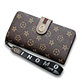 Van Persie Women's Long Bi-fold PU Leather Purse Zipper Card Organizer Fashion Wallet(Brown2)