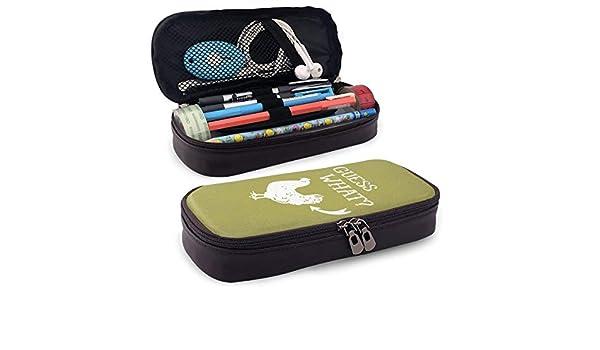 Losion Guess What - Estuche de Piel sintética para lápices y bolígrafos: Amazon.es: Hogar