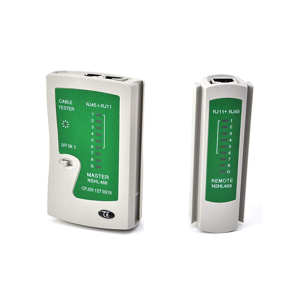 Network Cable Tester LAN RJ45 RJ11 Cat 5 N21CL Ethernet strumento Linea Internet a banda larga velocit/à di connessione di istruzioni capacit/à di test Incluso rete Lan Test Tool
