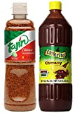 Tajin & Chilerito Bundle: Clasico Seasoning 14 Oz + Hot Sauce Chamoy 1L + Scoville Scale Unit