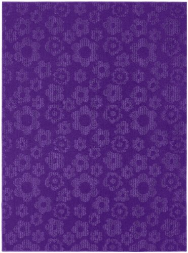 Garland Rug Flowers Area Rug, 5-Feet by 7-Feet, Purple