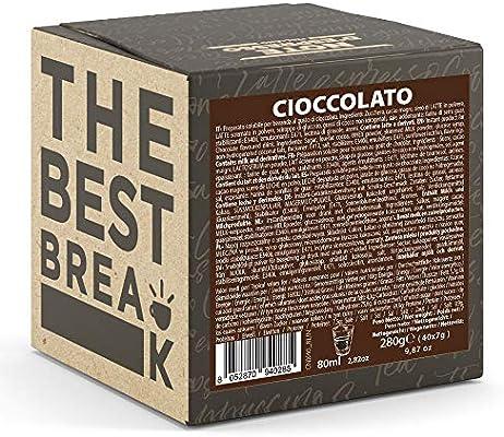 Note DEspresso Cápsulas de chocolate - 40 Unidades de 7 g, Exclusivamente Compatible con cafeteras Nespresso*: Amazon.es: Alimentación y bebidas