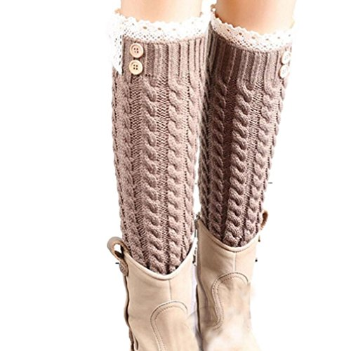 Wintialy Winter Warm Knitted Socks Leg Warmers Boot Crochet Long (A) from Wintialy